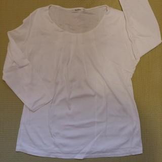 ベルメゾン(ベルメゾン)の七分袖シャツ白・Style Note【日本製】大きいサイズ(カットソー(長袖/七分))
