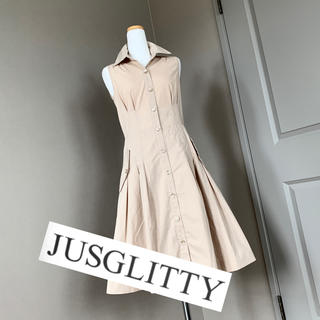 ジャスグリッティー(JUSGLITTY)のジャスグリッティー♡レディライクなシャツワンピース(ひざ丈ワンピース)