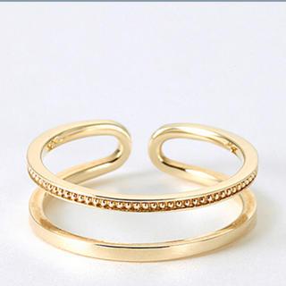 エナソルーナ(Enasoluna)のEnasolunaエナソルーナW line ringダブルラインリングゴールド(リング(指輪))