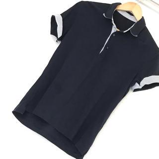ムジルシリョウヒン(MUJI (無印良品))のネイビー ポロシャツ(ストライプ)(ポロシャツ)