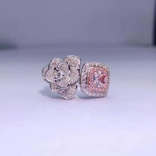 3wayピンクダイヤモンドと白ダイヤモンドの指輪(リング(指輪))