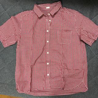 ジーユー(GU)のGU ギンガムチェック半袖シャツ(シャツ/ブラウス(半袖/袖なし))