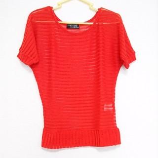 シマムラ(しまむら)のしまむら 半袖 トップス 赤 Mサイズ(カットソー(半袖/袖なし))