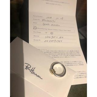 ロンハーマン(Ron Herman)のスピネリキルコリン 18k×シルバー リング ロンハーマン購入(リング(指輪))