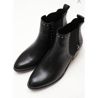 イエナスローブ(IENA SLOBE)の美品スタッズブーツ黒イエナ購入(ブーツ)
