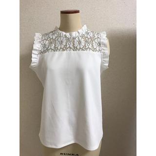 ジーユー(GU)のgu  デコルテレーストップス(シャツ/ブラウス(半袖/袖なし))