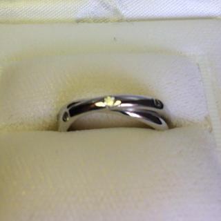 WGダイヤモンドリング 鑑別書付き & Pt900ダイヤモンドピアス 2種セット(リング(指輪))