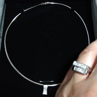 ダイヤモンド付き、チョーカー&リング💍セット(リング(指輪))