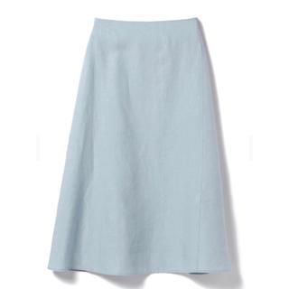 デミルクスビームス(Demi-Luxe BEAMS)の【値下げ】Demi-Luxe BEAMS / リネン フィット&フレアスカート(ひざ丈スカート)
