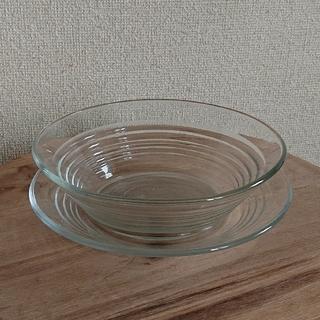 耐熱ガラス 食器 器 皿 2個セット (食器)