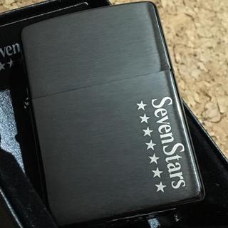 ジッポー(ZIPPO)のZIPPO sevenstars セブンスター 当選品ブラック 未使用品(タバコグッズ)