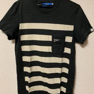 アディダス(adidas)のadidas トレフォイルロゴ ボーダーポケットTシャツ(Tシャツ/カットソー(半袖/袖なし))