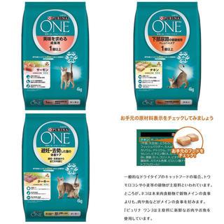 ネスレ(Nestle)の[7/3] ピュリナワン(PURINA ONE)猫用 キャットフード 4kg(ペットフード)