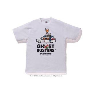 アベイシングエイプ(A BATHING APE)のbape GHOSTBUSTERS ゴーストバスターズ 白 M(Tシャツ/カットソー(半袖/袖なし))