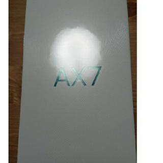 アンドロイド(ANDROID)の新品未開封!OPPO AX7 ブルー(スマートフォン本体)