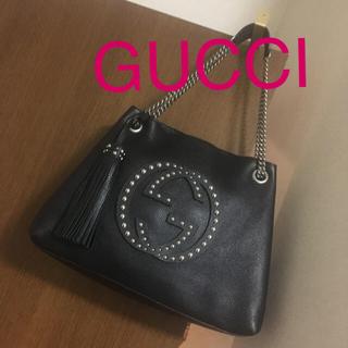 グッチ(Gucci)のグッチトートバッグ✨ブラック/シルバー✨レア✨グッチショルダーバッグ❣️(トートバッグ)