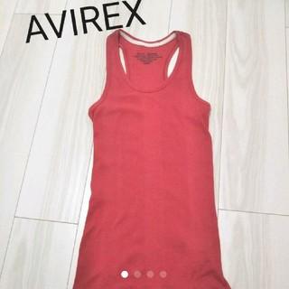 アヴィレックス(AVIREX)のAVIREX◇リブタンクトップ◇レッド(タンクトップ)