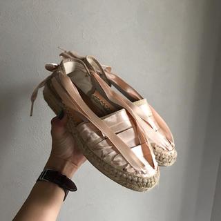 エディットフォールル(EDIT.FOR LULU)のnaguisa espadrille sandals.(サンダル)