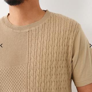 ロデオクラウンズワイドボウル(RODEO CROWNS WIDE BOWL)のRODEO CROWNS コンビ ジャカード ニット Tシャツ(Tシャツ/カットソー(半袖/袖なし))