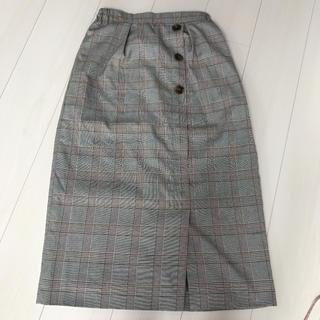 サンカンシオン(3can4on)の美品 サンカンシオン チェックスカート(ロングスカート)