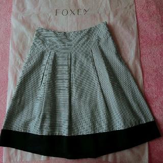 バーニーズニューヨーク(BARNEYS NEW YORK)のバーニーズニューヨーク 紺×白 スカート36(ひざ丈スカート)
