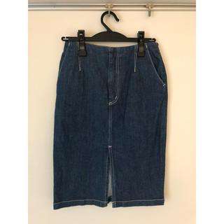 ルシェルブルー(LE CIEL BLEU)の最終値下げ Le ciel bleu デニムスカート 38(ひざ丈スカート)