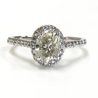 K18 オーバル ダイヤモンドリング(リング(指輪))