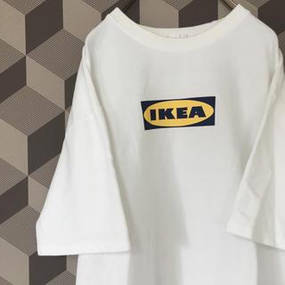 イケア(IKEA)の【IKEA】イケア ビッグシルエット ヘビーコットン ロゴ プリントTシャツ(Tシャツ/カットソー(半袖/袖なし))