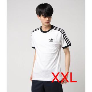 アディダス(adidas)のアディダスオリジナル Tシャツ ホワイト XXL スリーストライプ(Tシャツ/カットソー(半袖/袖なし))