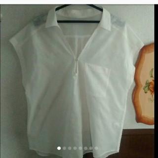 ジーユー(GU)のブラウス スキッパーシャツ(シャツ/ブラウス(半袖/袖なし))