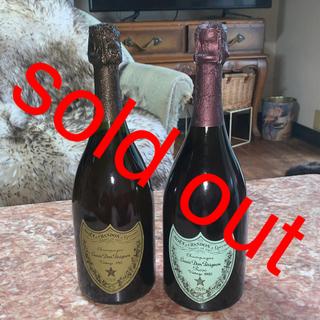 ドンペリニヨン(Dom Pérignon)のビィンテージ ドンペリニヨン二本セット白とロゼ(シャンパン/スパークリングワイン)