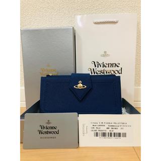 ヴィヴィアンウエストウッド(Vivienne Westwood)の新品未使用 正規品 ビビアンウエストウッド 長財布 青 ブルー (財布)
