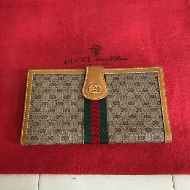 Gucci - 美品!人気 GUCCI オールド グッチ シェリーライン 小銭入れ 長 財布の通販 by Safari|グッチならラクマ