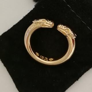 クロムハーツ(Chrome Hearts)のChrome Hearts K22 Double dog Ring クロムハーツ(リング(指輪))