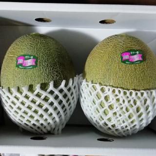 甘くて美味しい❤️肥後グリーンメロン超大玉2個入 なんと1玉約2k超❤️(フルーツ)