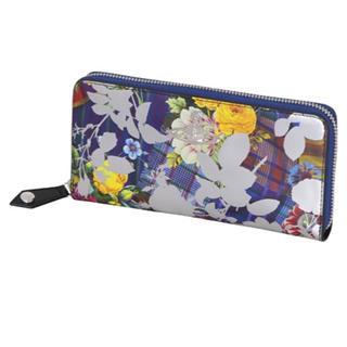 ヴィヴィアンウエストウッド(Vivienne Westwood)のヴィヴィアン ローズ ラウンドファスナー 長財布 シルバー(財布)