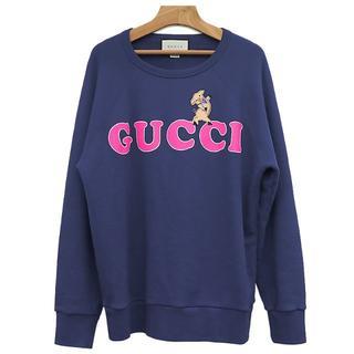 グッチ(Gucci)のGUCCI GUCCIプリント トレーナー ネイビー 豚 A1206(スウェット)