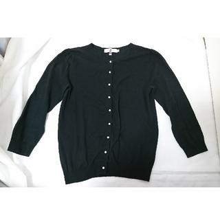 クチュールブローチ(Couture Brooch)の Couture Brooch コットン100%黒色真珠カーディガン 38  (カーディガン)