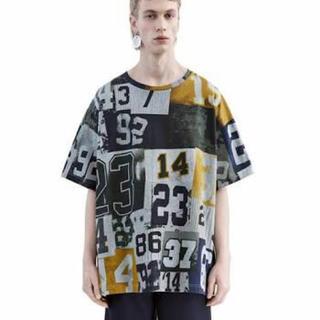 アクネ(ACNE)のAcne Studios 「EWAN NUMBERS」ビッグTシャツ(Tシャツ/カットソー(半袖/袖なし))