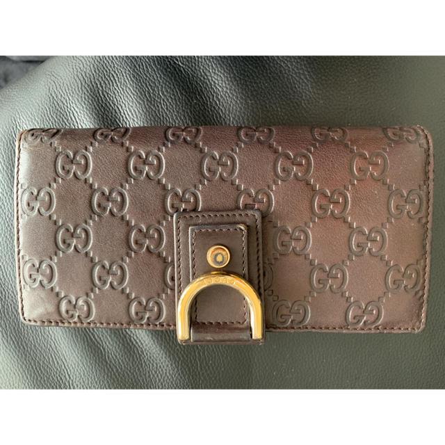 Gucci - GUCCI 革長財布 の通販 by ゆー's shop|グッチならラクマ