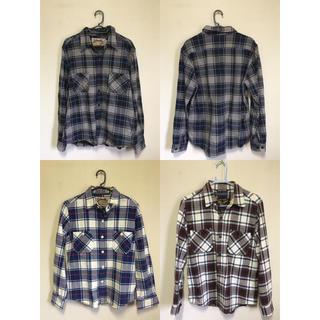 デラックス(DELUXE)のDELUXE×Schott コラボチェックネルシャツ3枚セット cootie降谷(シャツ)