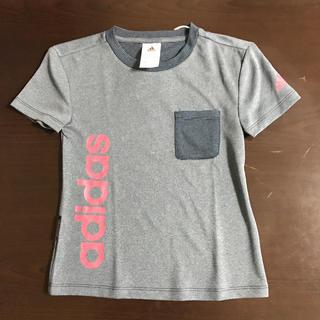 アディダス(adidas)の120㎝ adidas アディダス ガールズ ジャージ Tシャツ ネイビー(Tシャツ/カットソー)