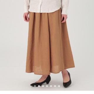 ムジルシリョウヒン(MUJI (無印良品))の無印 フレンチリネンイージーマキシスカート Lサイズ(ロングスカート)