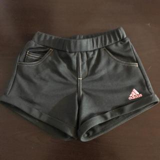 アディダス(adidas)の120㎝ adidas アディダス ガールズ ショートパンツ ブラック×ピンク(パンツ/スパッツ)