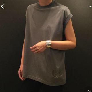 ドゥロワー(Drawer)のBLAMINK ブラミンク コットンクルーネック刺繍ノースリーブTシャツ(Tシャツ(半袖/袖なし))