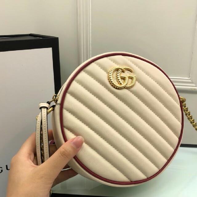 ブランド時計 | Gucci - GUCCI グッチ 丸型 ポシェット ショルダーバッグ GG柄 ブラウン の通販 by りんか's shop|グッチならラクマ