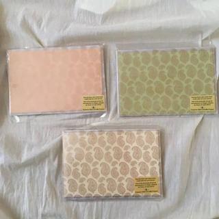 レターセット お洒落 ブロックプリント インド雑貨 封筒(カード/レター/ラッピング)