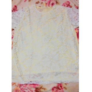 シマムラ(しまむら)の大きいサイズ☆総花柄レース半袖Tシャツ☆(Tシャツ(半袖/袖なし))