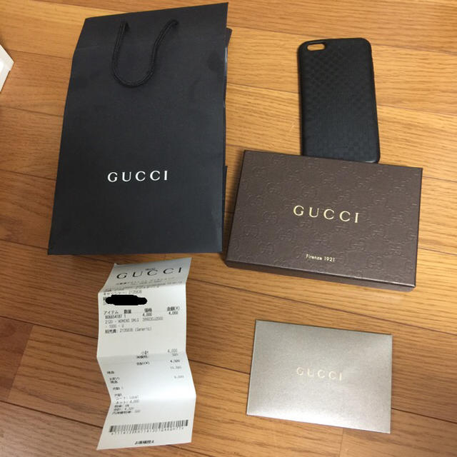 Gucci - GUCCI IPHONE 6 Plus case blackの通販