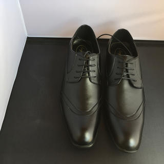 黒のビジネスシューズ予備紐付き  26、5cm  16130(ドレス/ビジネス)